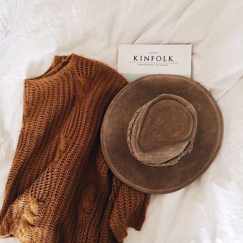 sweater + hat + kinfolk.
