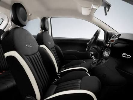 Image result for fiat 500 black with red roof