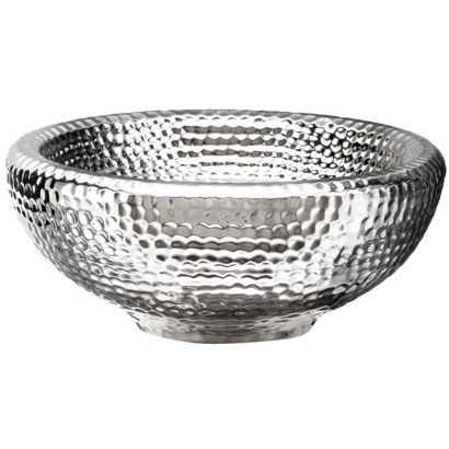 Small Silver Textured Ceramic Bowl By Torre Tagus