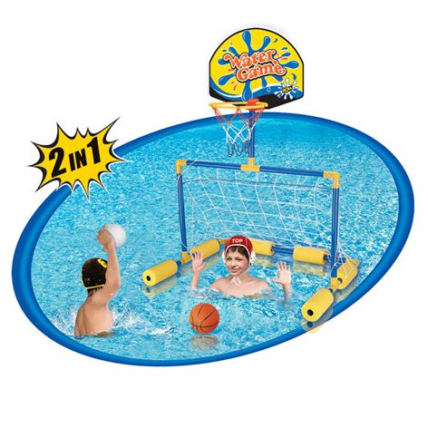 Okullar yaz tatiline girdi havalar ısındı, havuz keyfi başladı, minikleriniz için güzel bir karne hediyesi daha, Bestway Yue Guan Havuz Oyun Seti Futbol - Basketbol 68cm X 63cm sadece 19,99 TL'ye, bu fırsat kaçmaz... :: avmline