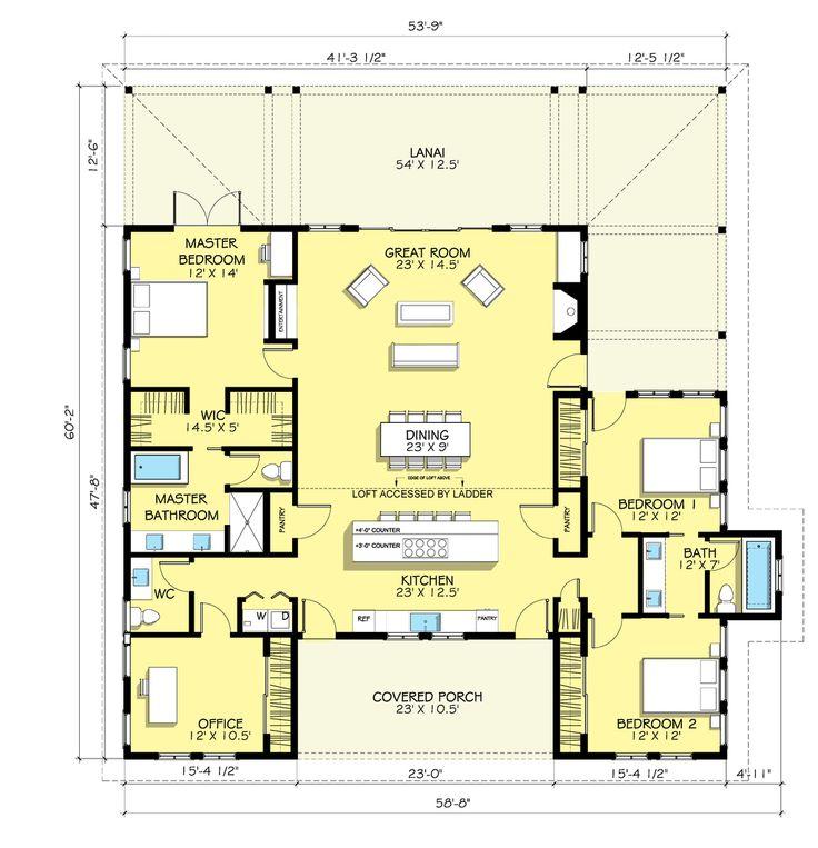 Houseplans.com Country / Farmhouse Main Floor Plan Plan #888-7