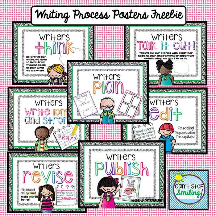 """Free! Writing Process Posters..... Follow for Free """"too-neat-not-to-keep"""" teaching tools & other fun stuff :)"""
