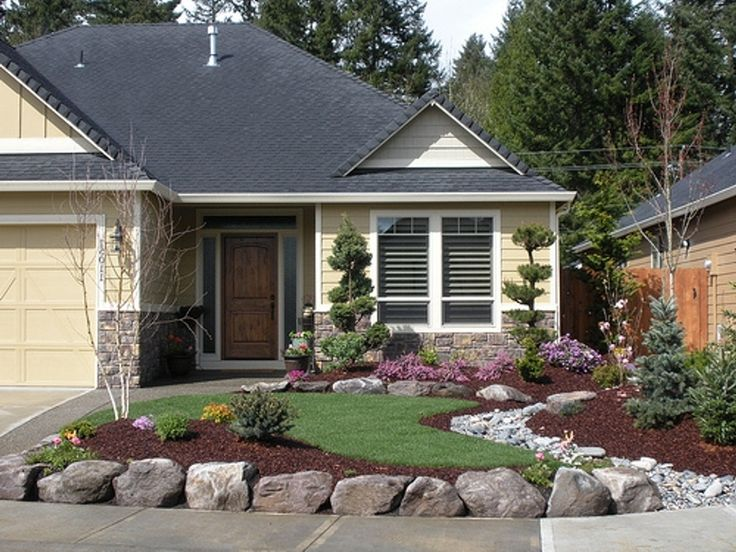 Landscaping Ideas For Front Yard Ranch House Home Decorating Landscaping Ideas…