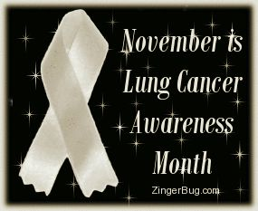 November Lung Cancer Ribbon