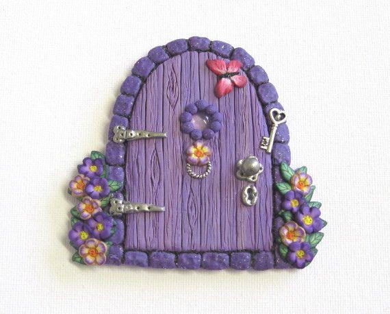 Purple fairy door magnet by patsparaphernalia via flickr for Purple fairy door