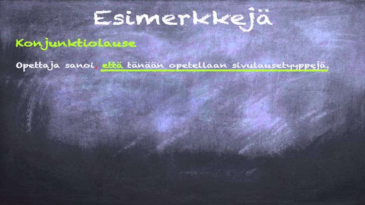Suomen kieli: Sivulausetyypit