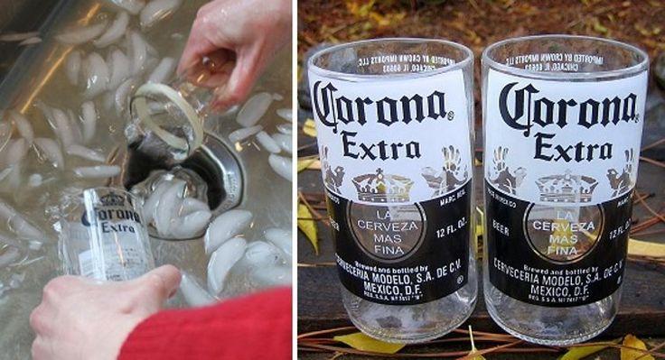En este artículo te enseñaremos a crear unos vasos de vidrio muy modernos reutilizando las botellas de tus cervezas preferidas.