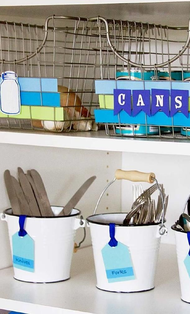 Create the picture-perfect pantry with custom storage and personalized labels. We have the tutorials and the tools to show you how. Ban clutter now and turn your kitchen into a sanctuary.