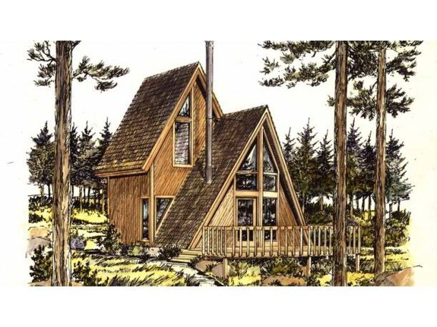 7 best a frame additions images on pinterest wood cabins for Cabin addition floor plans
