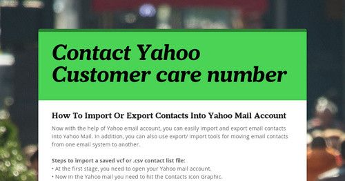 The customer number will help you in fixing numerous Yahoo mail issues. Apart from this, a third party technical support providing company is indeed the best option to grab the ultimate solutions for account related issues. The company's professionals are quite dedicated and know the importance of delivering the on-time Yahoo customer number solutions.