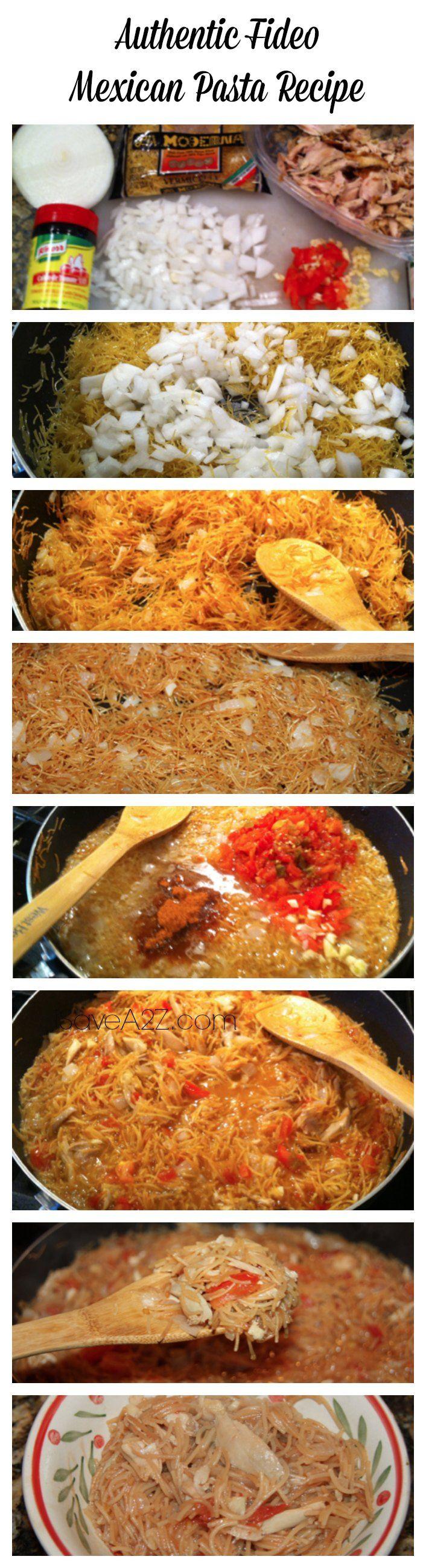 Authentic Fideo Mexican Pasta Recipe - iSaveA2Z.com  #PinOfTheDay
