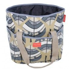 Maxi Dog Travel Bag in Leaf Fabric made by Poppy and Rufus Ltd in #Cheshire - £85.00