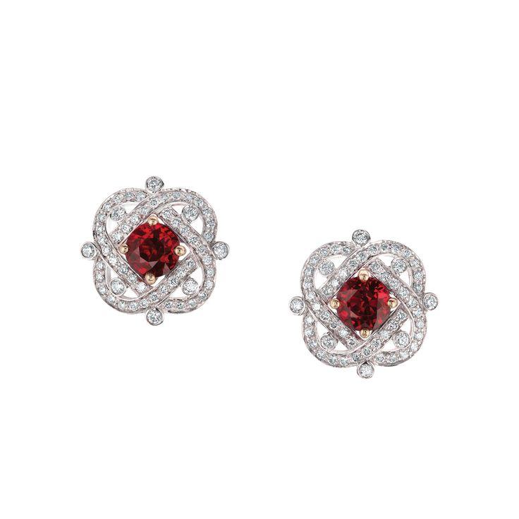 Fabergé Xenia Ruby Earrings #Fabergé  #diamond #ruby #earrings
