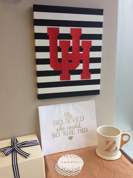 University of Houston Canvas by ThePinkTulipTX on Etsy