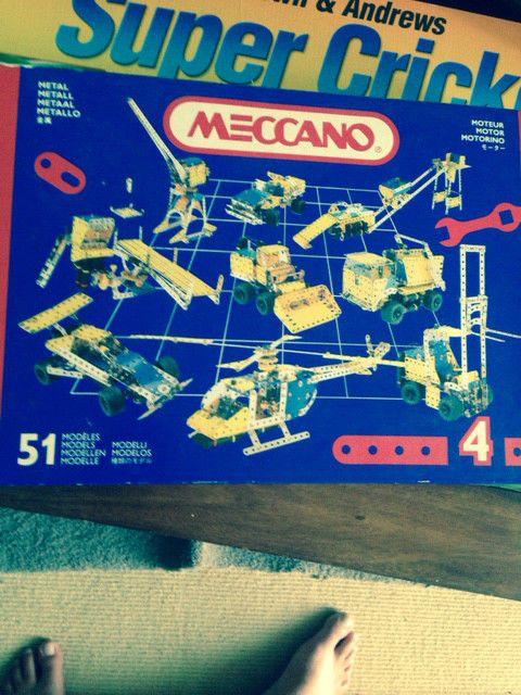 VINTAGE MECCANO ERECTOR SET NO. 4 W ELECTRIC MOTOTOR BOXED Toys Tin Lego Boxed