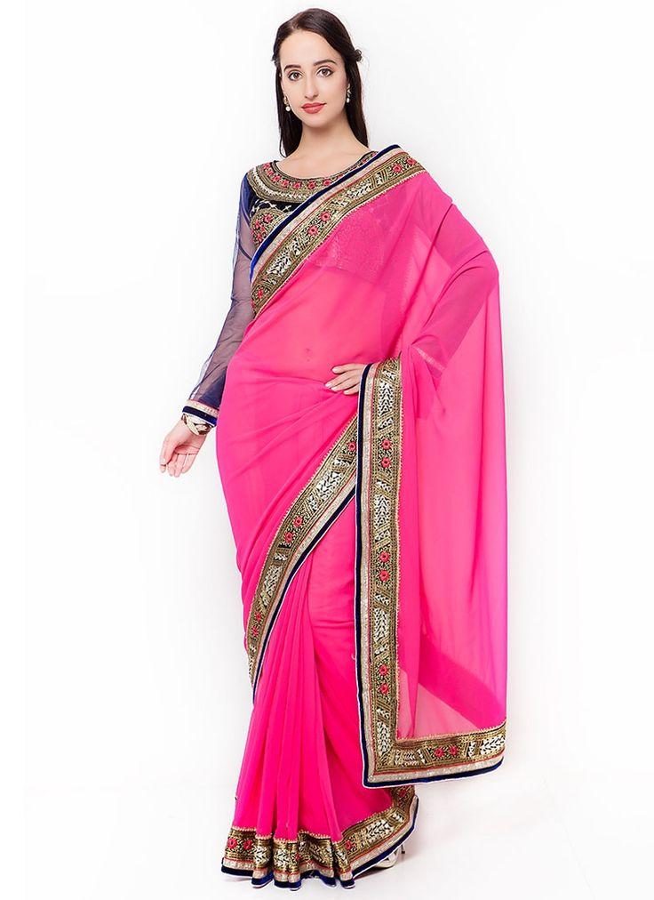 Buy Surpassing Georgette Designer Traditional Saree #sarees #saree #sari #designersaree #sareebuzzlove #sareebuzz