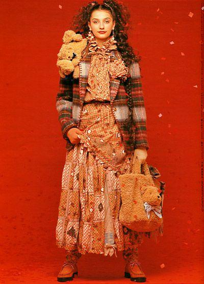 Wonderful World by Isao Kaneko (Fashion designer) 1997. Sweet fashion brand.