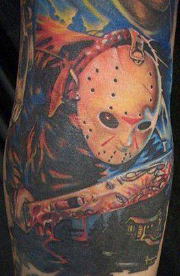 Jason at Camp Crystal Lake Tattoo