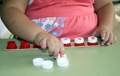Un montón de buenas ideas para practicar matemáticas.  reciclando en la escuela: 118. BaRaJa De TaPoNeS