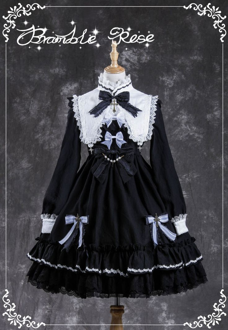 Bramble Rose -Devil- Gothic Lolita OP Dress