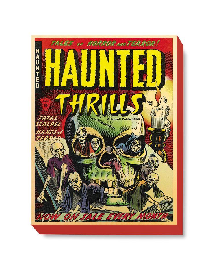 HOR 012 Horror Comic Cover - Haunted Thrills