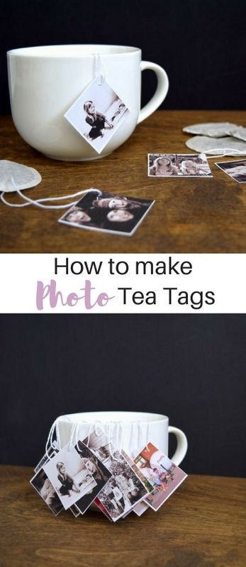photo tea tags. Would be kind of cool to use as a picture display, not actually for tea, that's weird....