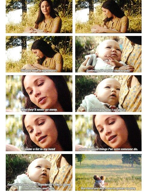 """There are much worse games to play"" - Katniss and Peeta (with their kids) #TheHungerGames: #MockingjayPart2 epilogue"