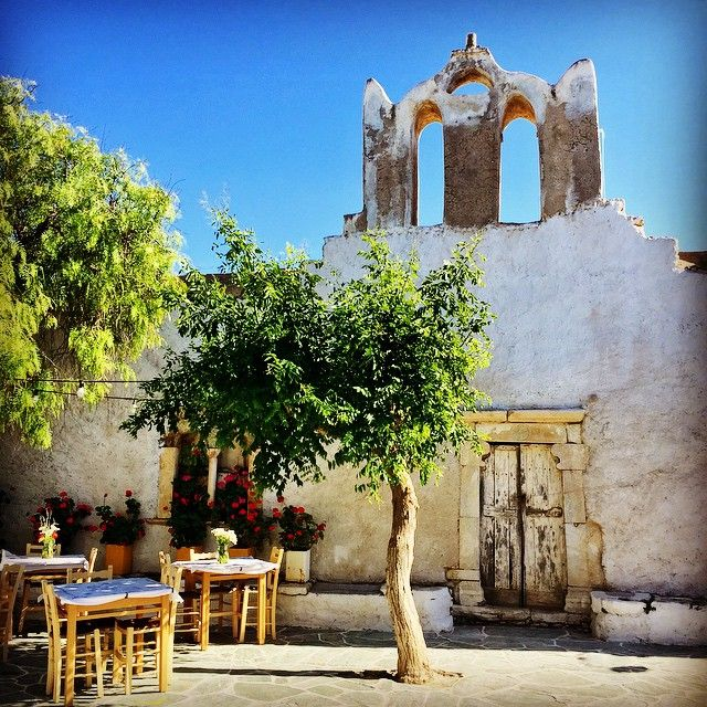 """The fortified Kastro, the oldest section of Folegandros town, or Chora, in Greece, where areas areas date back to the 13th-century.…"""