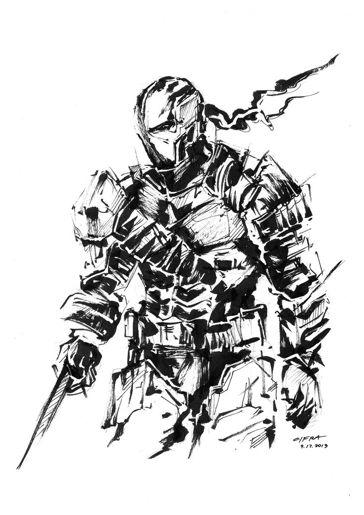 coloring pages of deathstroke costume - photo#22