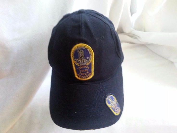 VIRGINIA STATE POLICE ASSOCIATION PATCH BALL CAP-NAVY BLUE-ADJUST. STRAP-CLEAN