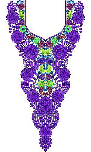 Delightful Arabian Long Neck Embroidery Design