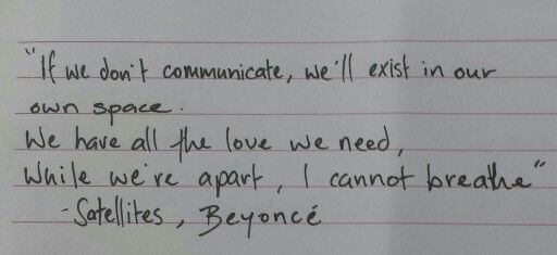 Satellites, Beyoncé
