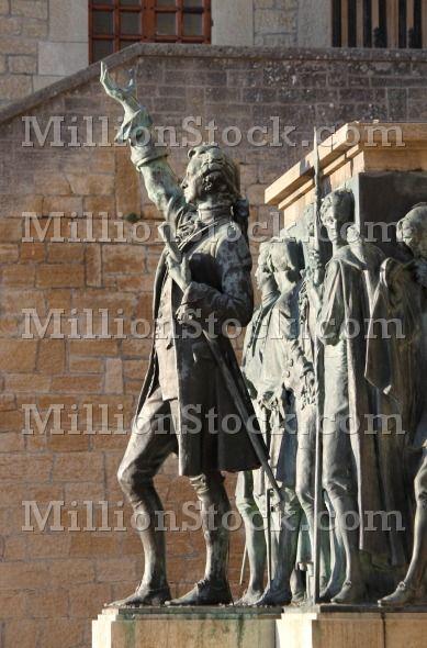 Monument to Girolamo Gozi and defenders of freedom in San Marino, Italy