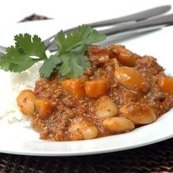 Chilli Mince with Butternut and Beans