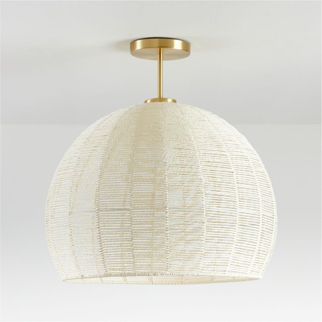 Ivory Woven Rope Flushmount Reviews Crate And Barrel In 2020 Kids Room Lighting Kids Ceiling Lights Room Lights