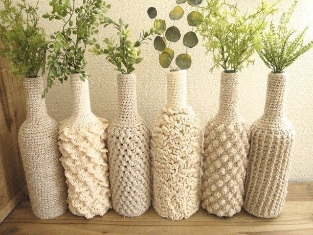 crochet wine bottle covers
