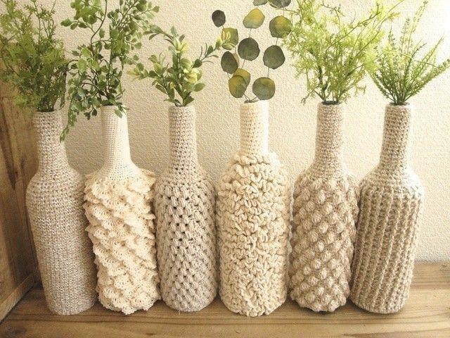 crochet wine bottle covers