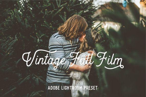 Adobe Lightroom Preset Vintage Fall Film Preset by SabTinDesigns