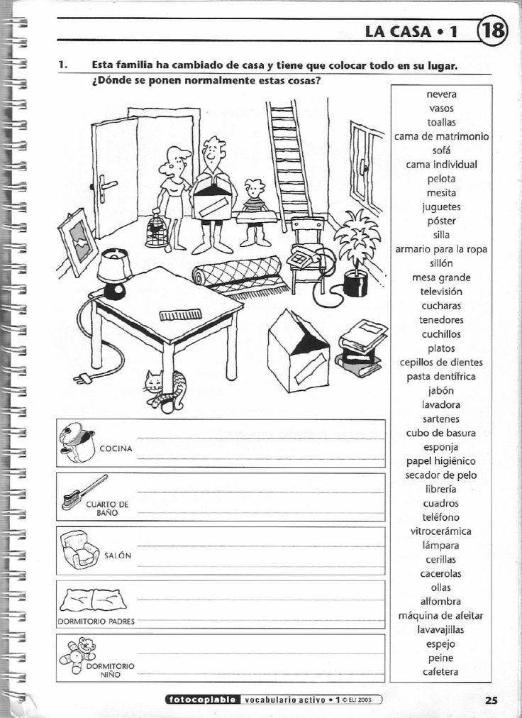 ISSUU - Vocabulario activo 1. Fichas con ejercicios fotocopiables (elemental - pre-intermedio) de Jean-François Borgniet
