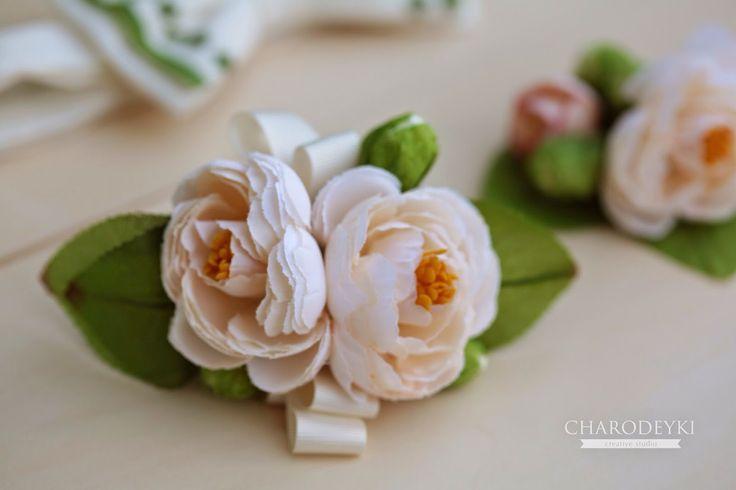 Бутоньерка для подружки невесты от студии Charodeyki