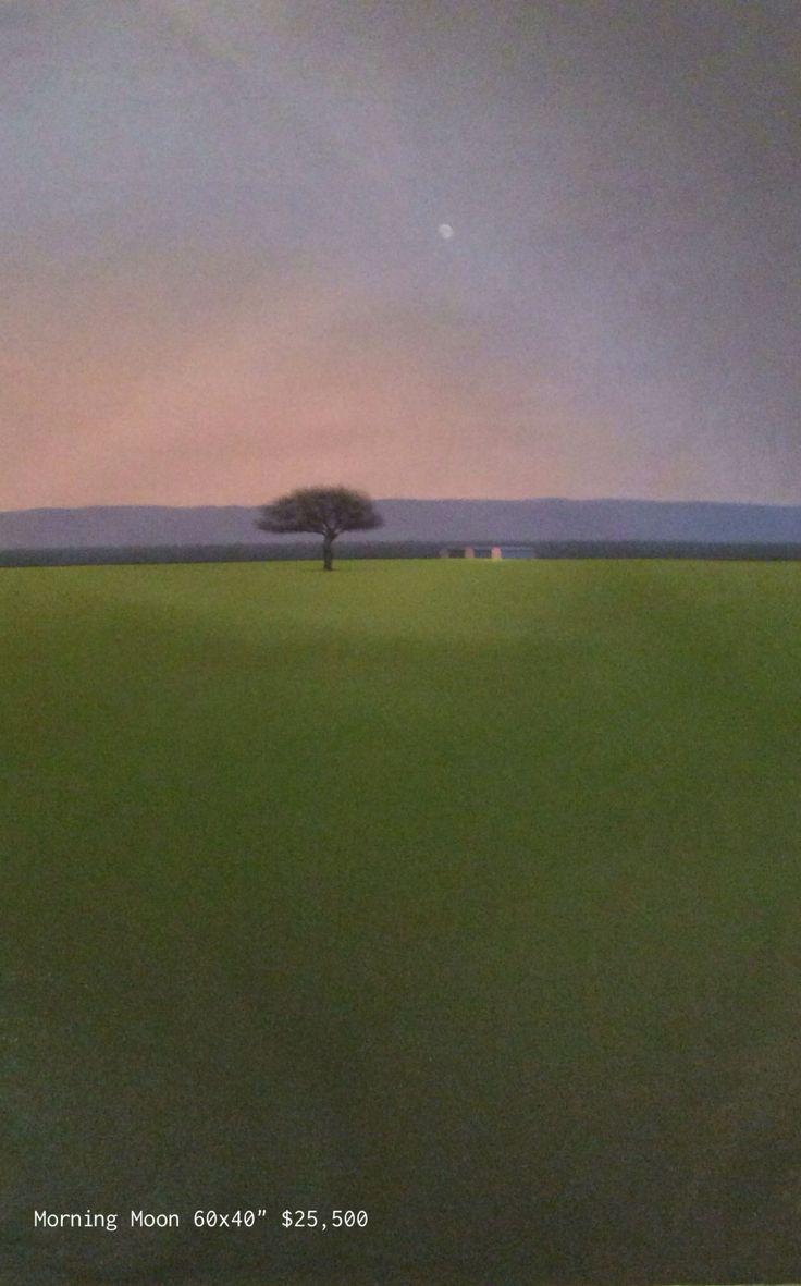 Jose Basso Morning Moon Original Oil on Canvas
