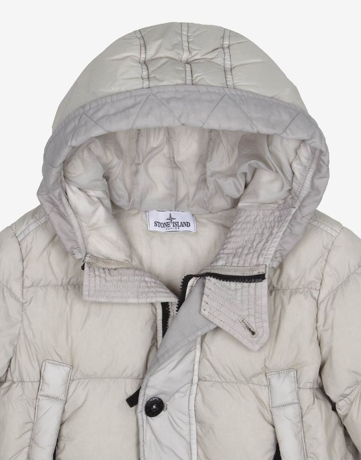 40433 GARMENT DYED CRINKLE REPS DOWN Jacket in Grey