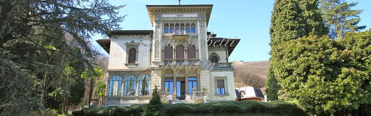 Apartment in historic villa with swimming pool in Stresa (Lake Maggiore), luxury villa, luxury large apartment