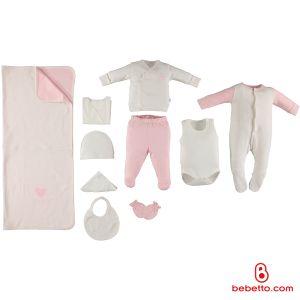 Bebetto - COTTON BABY NEWBORN SET 10 PCS (Angel)