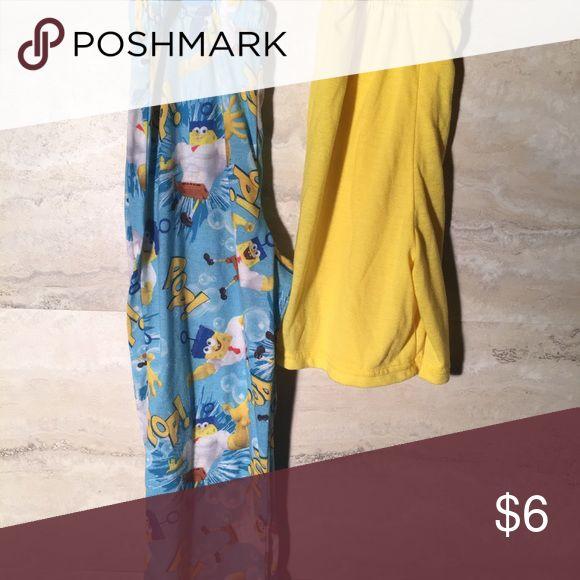 Spongebob pajama pants and shorts size 6 Spongebob pajama pants and shorts size 6 in EUC. Pajamas Pajama Bottoms