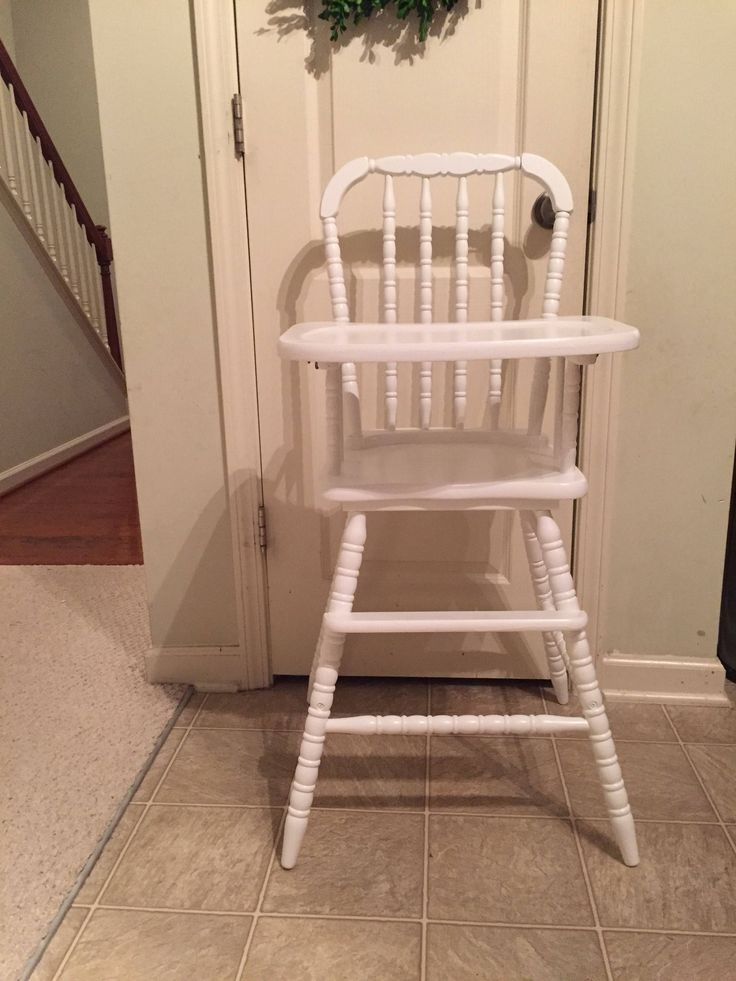 Professionally Painted, Vintage Wooden High Chair, Jenny Lind, Antique High Chair, Vintage High Chair, Painted High Chair, Wood Highchair by TheKristKorner on Etsy