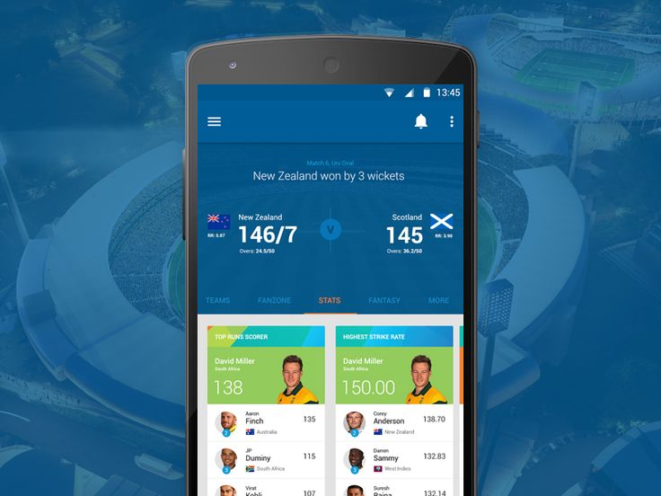 Cricket World Cup 2015 App Concept.  by Shab Majeed