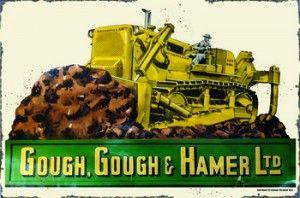 Gough, Gough & Hammer Tin Sign $50