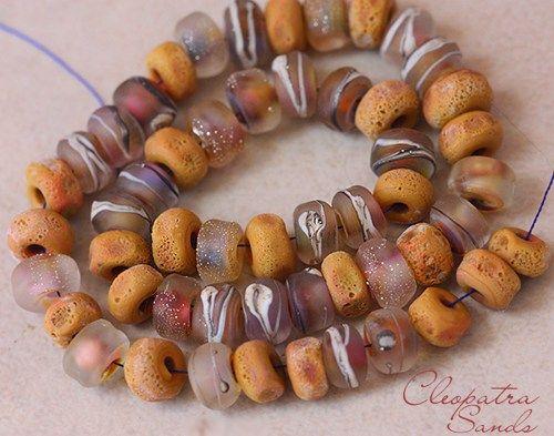 cleopatra sands seeds 50 handmade glass lampwork beads