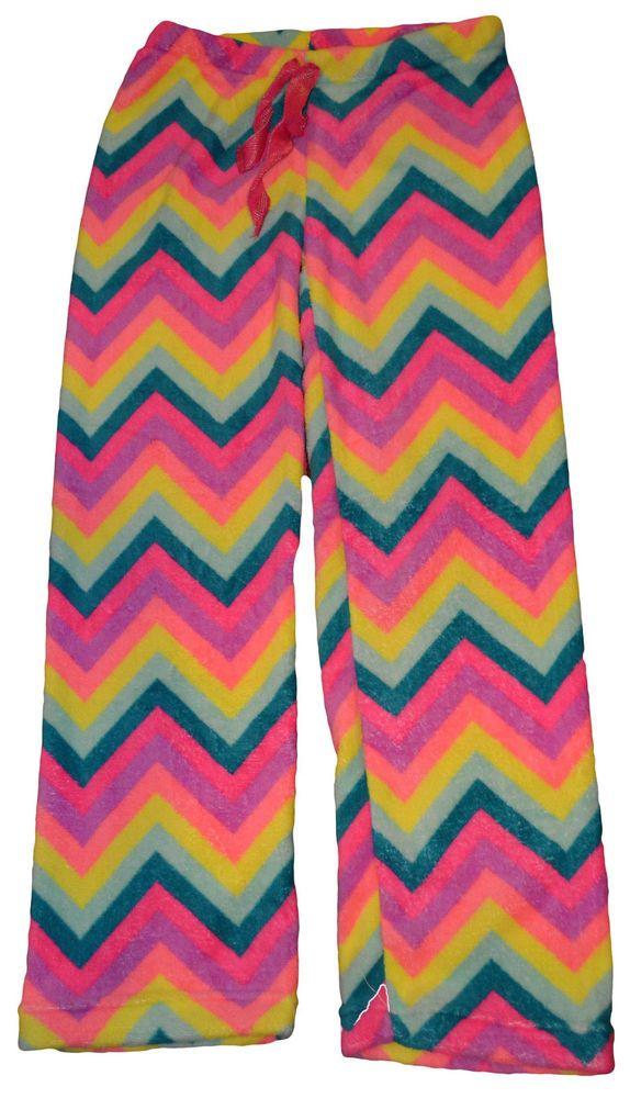 Ladies Tarea Rue 21 Multi-Color Zig Zag Plush Lounge Sleep Pants Sizes M, L, XL #tarea #LoungePants